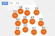 [날씨 예보] 전국 미세먼지 x 황사 농도 공습경보 수준?